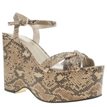 Womens Schuh Beige & Brown Groovy Man High Heels