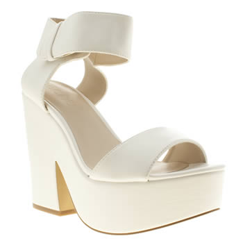womens schuh white hotness high heels