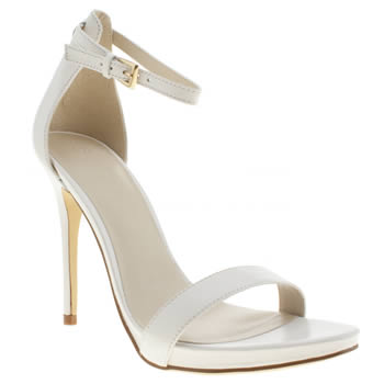Schuh White Hot Date High Heels