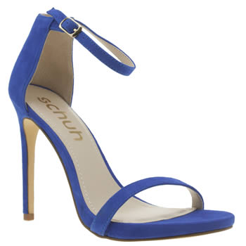 Womens Schuh Blue All Eyes On You High Heels