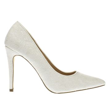 Schuh White Queen Bee Womens High Heels