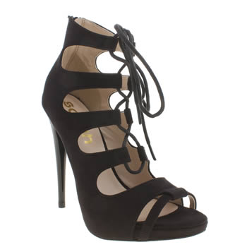 Schuh Black Flutter Womens High Heels
