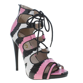 Womens Schuh Black & pink Flutter High Heels