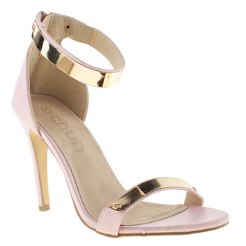 womens schuh pale pink grind my gears high heels
