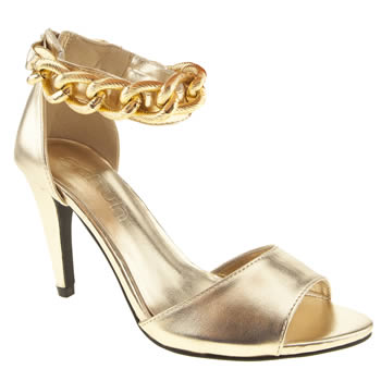 womens schuh gold twerk it out high heels