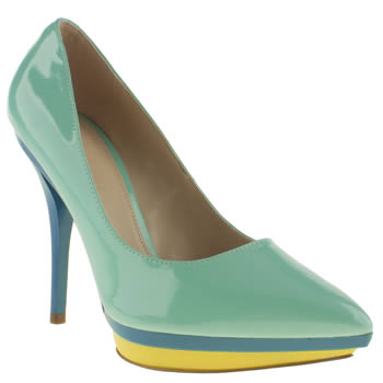 womens schuh turquoise sherbet high heels