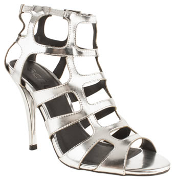 womens schuh silver fortress high heels