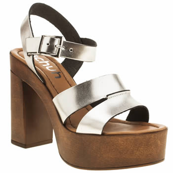 Schuh Silver Bloom High Heels