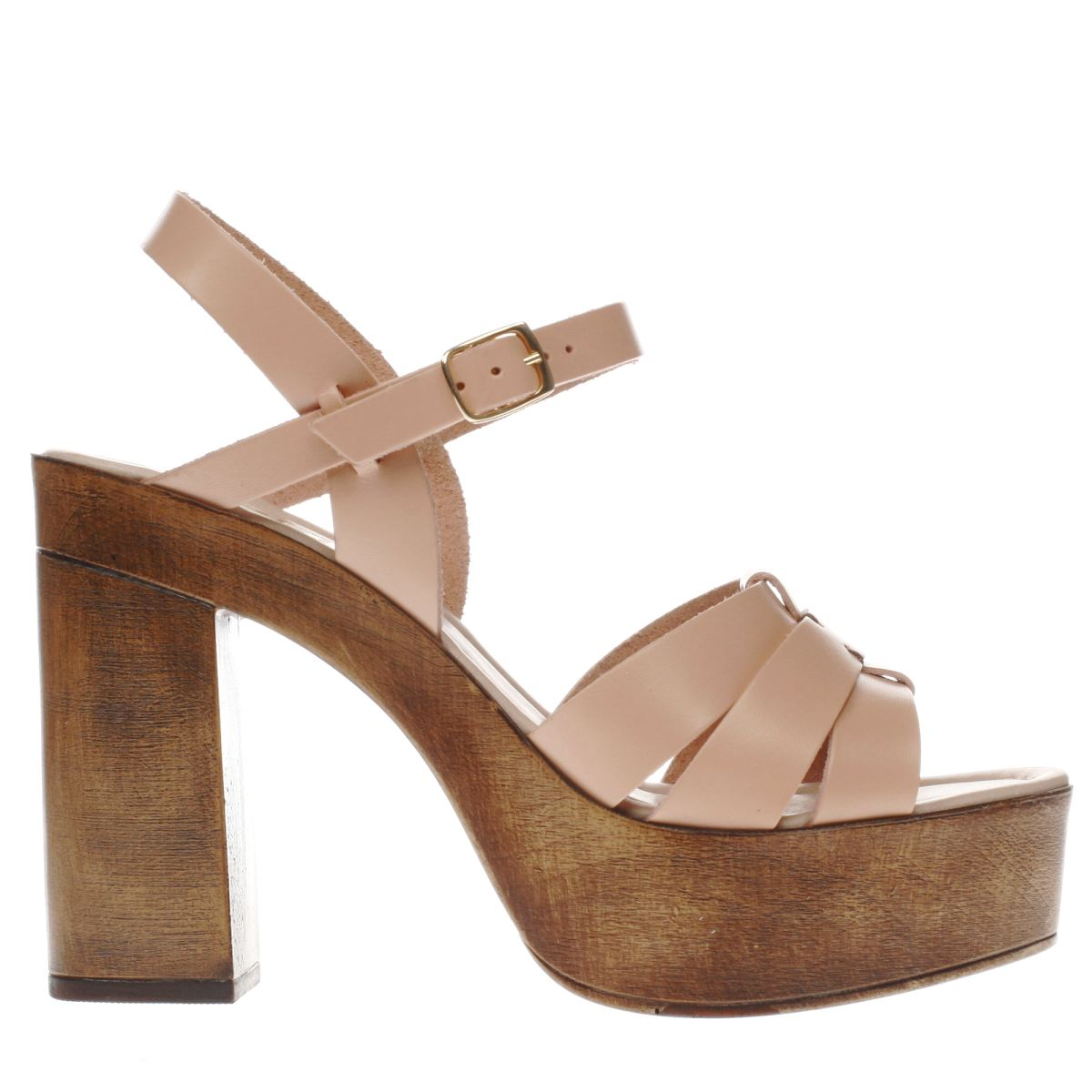 schuh pale pink boston high heels