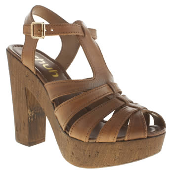 Schuh Tan Smoothy Womens High Heels