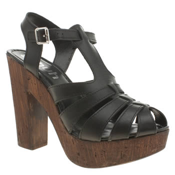 Schuh Black Smoothy Womens High Heels