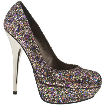 womens schuh multi prince court glitter high heels