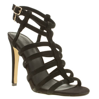 womens schuh black secret identity high heels