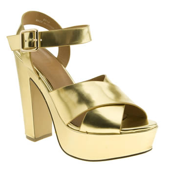 Womens Schuh Gold Whimsical High Heels