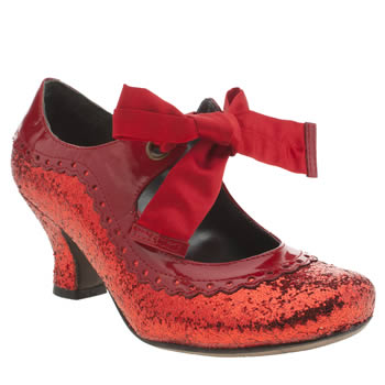 Womens Hush Puppies Red Noella Glitter High Heels