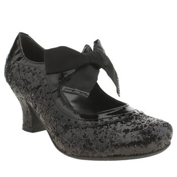 Womens Hush Puppies Black Noella Glitter High Heels