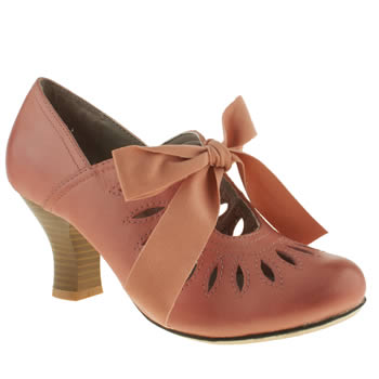 womens hush puppies pale pink lolita shootie high heels