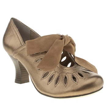 womens hush puppies bronze lolita shootie high heels
