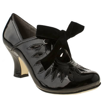 Hush Puppies Black Lolita Shootie Patent High Heels