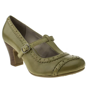 womens hush puppies green lonna t-bar high heels