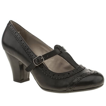 womens hush puppies black lonna t-bar high heels