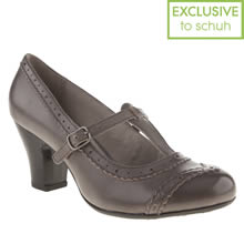Grey Hush Puppies Lonna T-bar