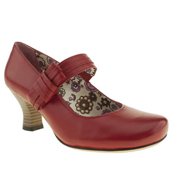 womens hush puppies red philippa bow high heels