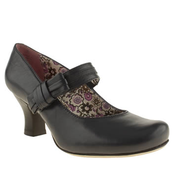 Hush Puppies Navy Philippa Bow High Heels