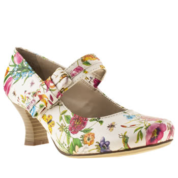 womens hush puppies multi philippa bow floral high heels
