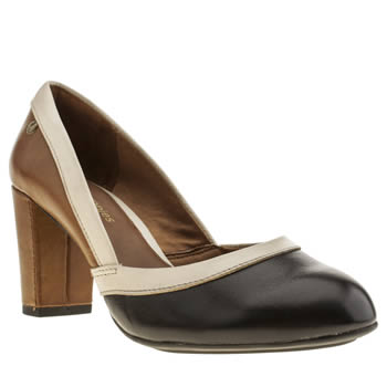 Womens Hush Puppies Black & Brown Sisany High Heels