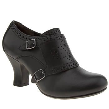 Womens Hush Puppies Black Lolita Monk High Heels