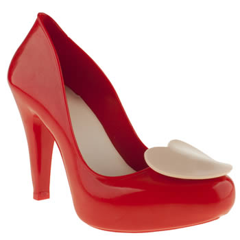 womens mel red raspberry heart high heels