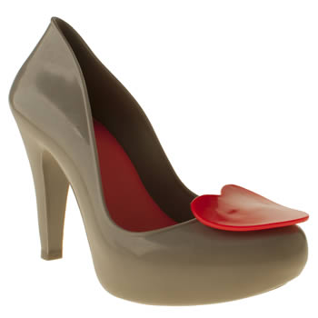 womens mel light grey raspberry heart high heels