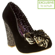 Black Irregular Choice Lola Antique Rose Court