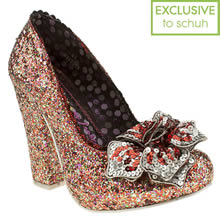 Multi Irregular Choice Lola Antique Rose Court