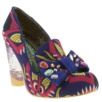 Irregular Choice Purple Oz Naughty Smile High Heels