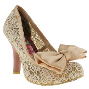 Womens Irregular Choice Natural Iced Gem High Heels