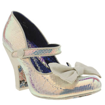 Womens Irregular Choice White Fancy This Party People High Heels