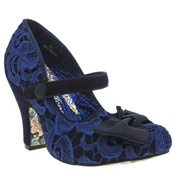 Womens Irregular Choice Navy Fancy This Crochet High Heels