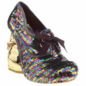 Irregular Choice Multi Disco Bunny Sequins High Heels