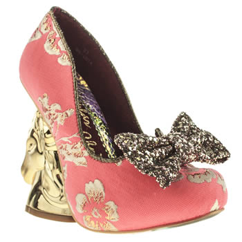 Irregular Choice Pink Trixy Embroidery High Heels