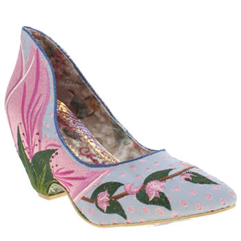 Womens Irregular Choice Pale Blue Tiger Blossom High Heels