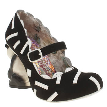 Womens Irregular Choice Black & White Yang Guang High Heels