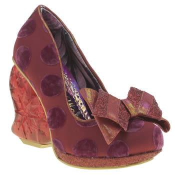 Irregular Choice Red Strawberry Fudge High Heels