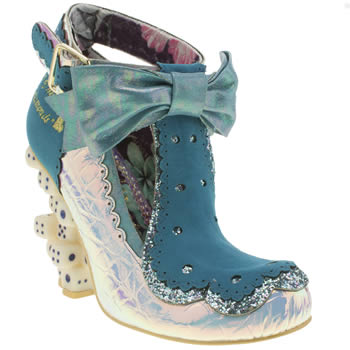 Irregular Choice White & Blue Take A Chance High Heels