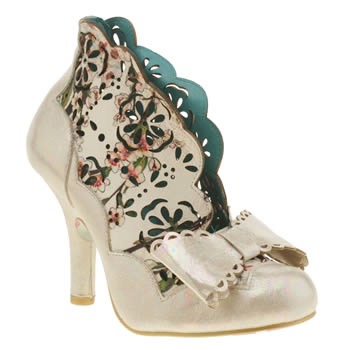 Irregular Choice White & Pink Sassle Floral Womens High Heels
