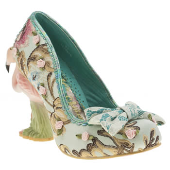 Irregular Choice Turquoise Blushing Bird Floral High Heels