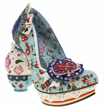 Irregular Choice Pale Blue Alice One Lump Or Two High Heels