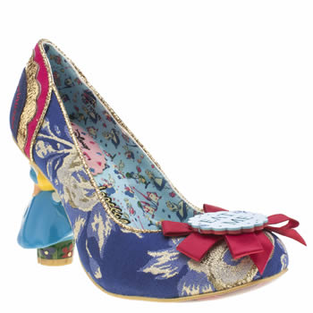 Irregular Choice Navy & Pl Blue Alice Curious Feeling High Heels