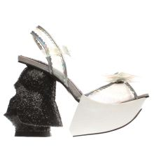 Irregular Choice White & Black Dark Empire Womens High Heels
